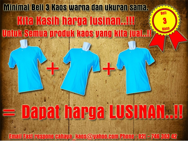 3pcs warna sama copy