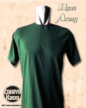 hijau army kaos polos tanpa sablon