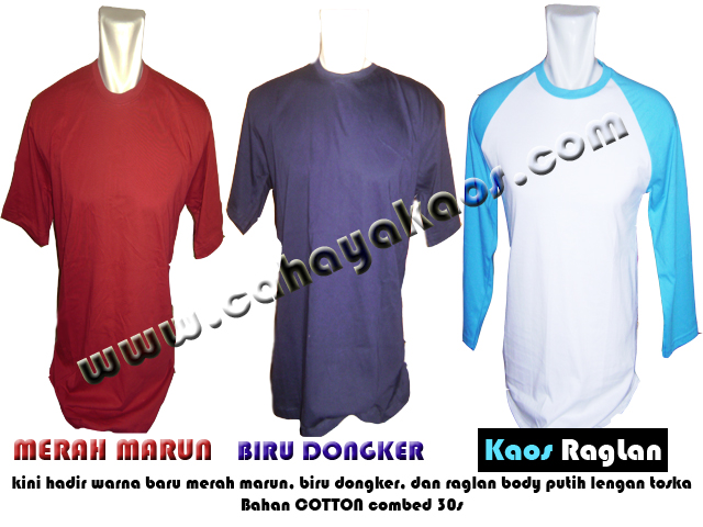 warna baru copy kaos polos warna