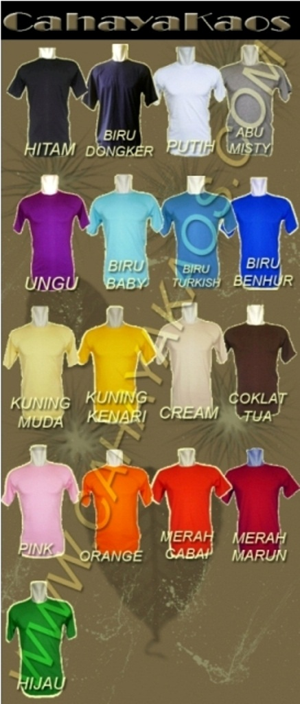 warna kaos polos 1 kaos