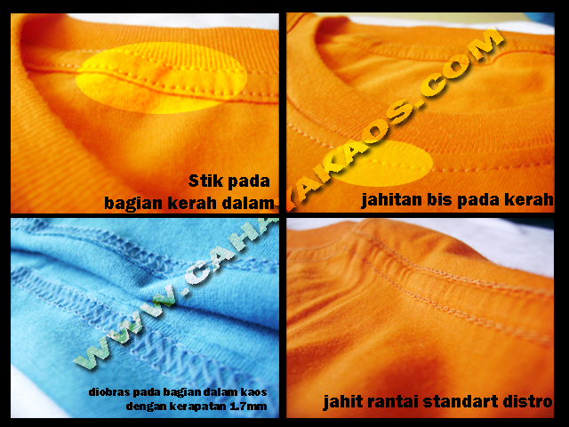 detail kaos polos  kaos satuan