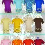 warna kaos polos
