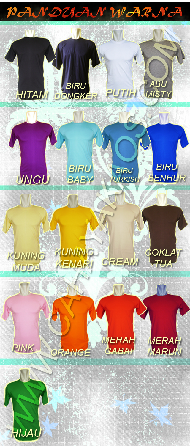 warna kaos polos2 kaos polos shirt